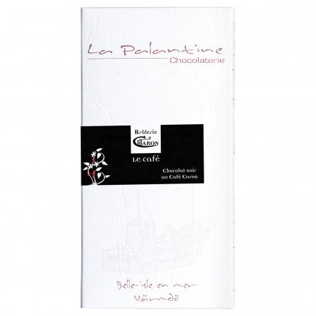 Tablette de chocolat noir au Café Caron