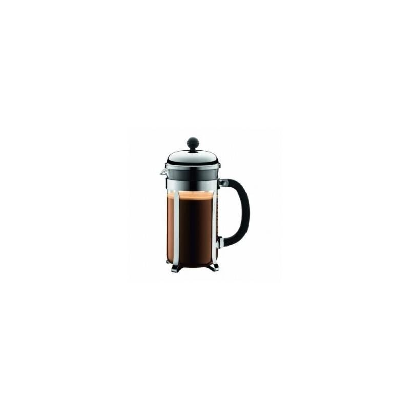 cafeti re piston bodum chambord brillant 8 tasses caron service. Black Bedroom Furniture Sets. Home Design Ideas